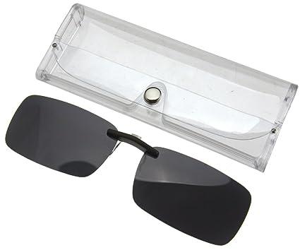 af73c8e6c07 Frameless Driving Polarized Clip-on Glasses Lens Sunglasses UV400 Dark Grey   Amazon.co.uk  Kitchen   Home