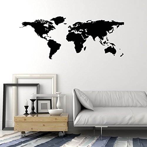 Amazon world map outline continents country nations europe amazon world map outline continents country nations europe asian africa mural wall art decor vinyl sticker p017 home kitchen gumiabroncs Image collections