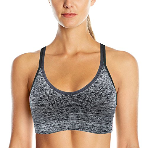 df2ac294b4227 AKAMC Women s Removable Padded Sports Bras Medium Support Workout ...