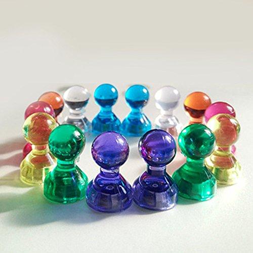 21pcs/set Strong Neodymium Magnetic Thumbtacks Transparent Noticeboard Skittle Pin Magnets DIY Fridge - Shop Reno Frame