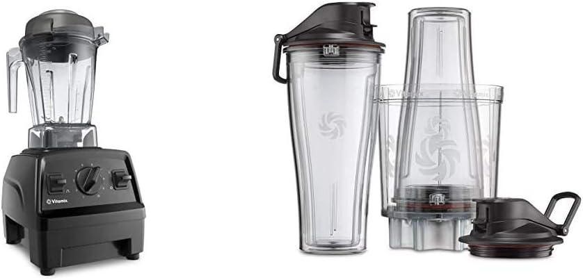Vitamix E310 Explorian Blender, Professional-Grade, 48 oz. Container, Black & Personal Cup Adapter - 61724