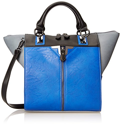 Danielle Nicole Alexa Colorblock Tote Top Handle Bag,Cobalt Combo,One Size