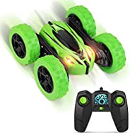 Boy-Toys-Remote-Control-Car-RC-Cars: Transform Stunt Trucks with 4 Battery 2.4GHz Controller and 4 WD, Double Rotating Vehic