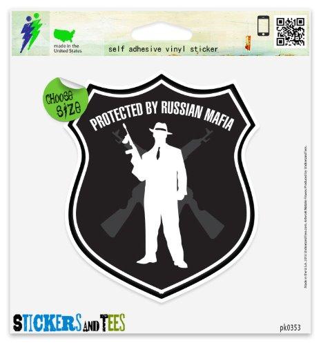 Protected By Russian Mafia Vinyl Car Bumper Window Sticker 3