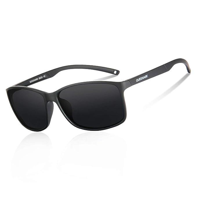 16be393693 Queshark Gafas de Sol Deportivas Polarizadas Para Hombre Perfectas Para  Esquiar Golf Correr Ciclismo 14.5g