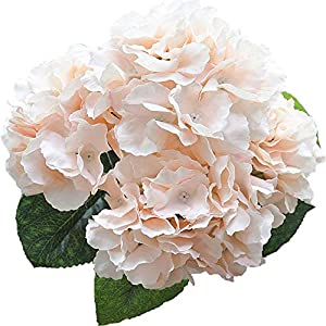 Wintop Artificial Silk Fake 5 Heads Flower Bunch Bouquet Home Hotel Wedding Party Garden Floral Decor Hydrangea -- Champagne 39