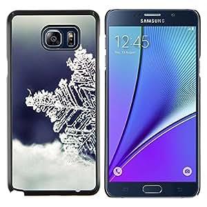 Stuss Case / Funda Carcasa protectora - Frío Invierno Nieve Azul - Samsung Galaxy Note 5