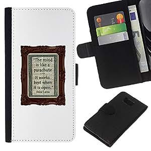 KingStore / Leather Etui en cuir / Samsung ALPHA G850 / Diary Blanc écriture de texte
