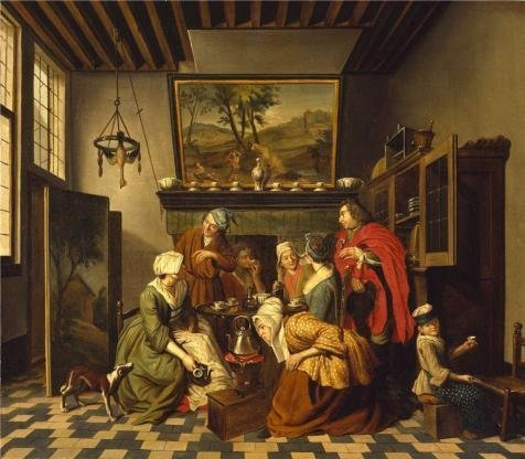 18th Century Wallpaper - Perfect Effect Canvas ,the Best Price Art Decorative Prints On Canvas Of Oil Painting 'Jan Jozef Horemans II - Tea-Time, 18th Century', 10x11 Inch / 25x29 Cm Is Best For Laundry Room Gallery Art And Home Decor And Gifts