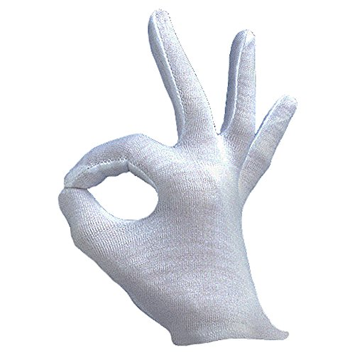 Gentleman Ghost Costume (Adult Magician Opera Gentleman's Wrist Length Costume Gloves White)