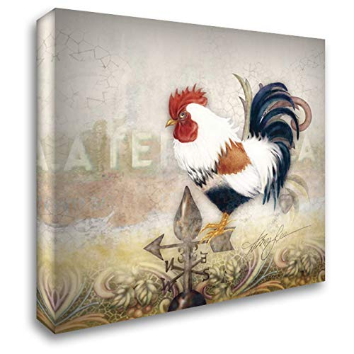 Paisley Rooster - Paisley Rooster 28x28 Gallery Wrapped Stretched Canvas Art by Lee, Alma