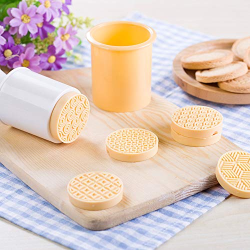 Cookie Stamps Cake Mold, SUJING Biscuit Mold Cookie Press DIY Decoration Press Cake Cutter Mold - 6pcs / set (Yellow)
