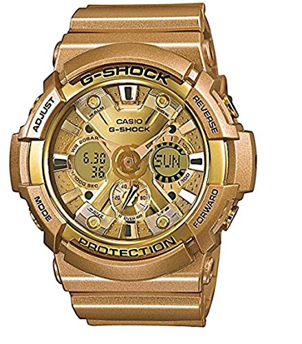 (Casio G-Shock Gold Dial Gold Resin Multifunction Quartz Men's Watch GA200GD-9A)