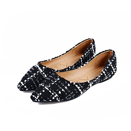 shoes Pointed shoes flat Shallow Black mouth Women's casual thin A1wCwxq5
