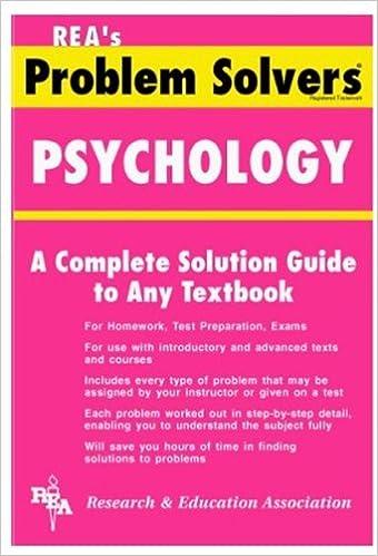psychology problem solver problem solvers solution guides psychology problem solver problem solvers solution guides revised edition