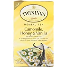 Twinings Teabags Herbal Camomile, Honey and Vanilla, 20ea (Pack of 6)