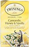 Twinings of London Honey and Vanilla Herbal Camomile Tea Bags, 20 Count
