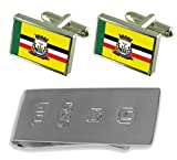 Birigui City Sao Paulo State Flag Cufflinks & James Bond Money Clip