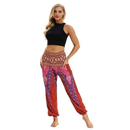 NSYJKPantaloni da yogaPantalones de Yoga Estilo étnico ...