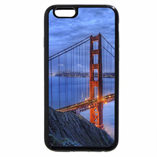 iPhone 6S / iPhone 6 Case (Black) awesome golden gate bridge hdr