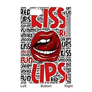 Red Lips Pop Art CUSTOM 3D Hard Case for iPhone 5/5s LMc-54249 at LaiMc