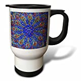 3dRose Danita Delimont - Patterns - Islamic Designs on Blue Pottery, Madaba, Jordan - 14oz Stainless Steel Travel Mug (tm_276903_1)