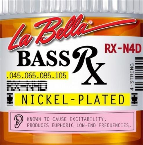 LaBella RX-N4D Bass Rx Nickel-Plated Strings, Custom KMC Music Inc