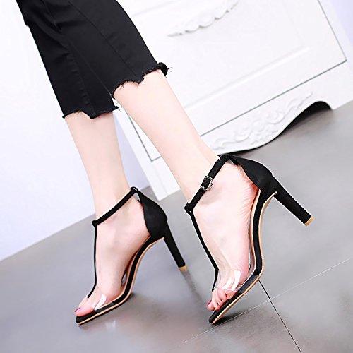 moda tacchi sandali open con nbsp;temperamento trasparente alti apricot Estate YMFIE nbsp; nbsp; eleganti sexy toe 5Rxwq7WaS