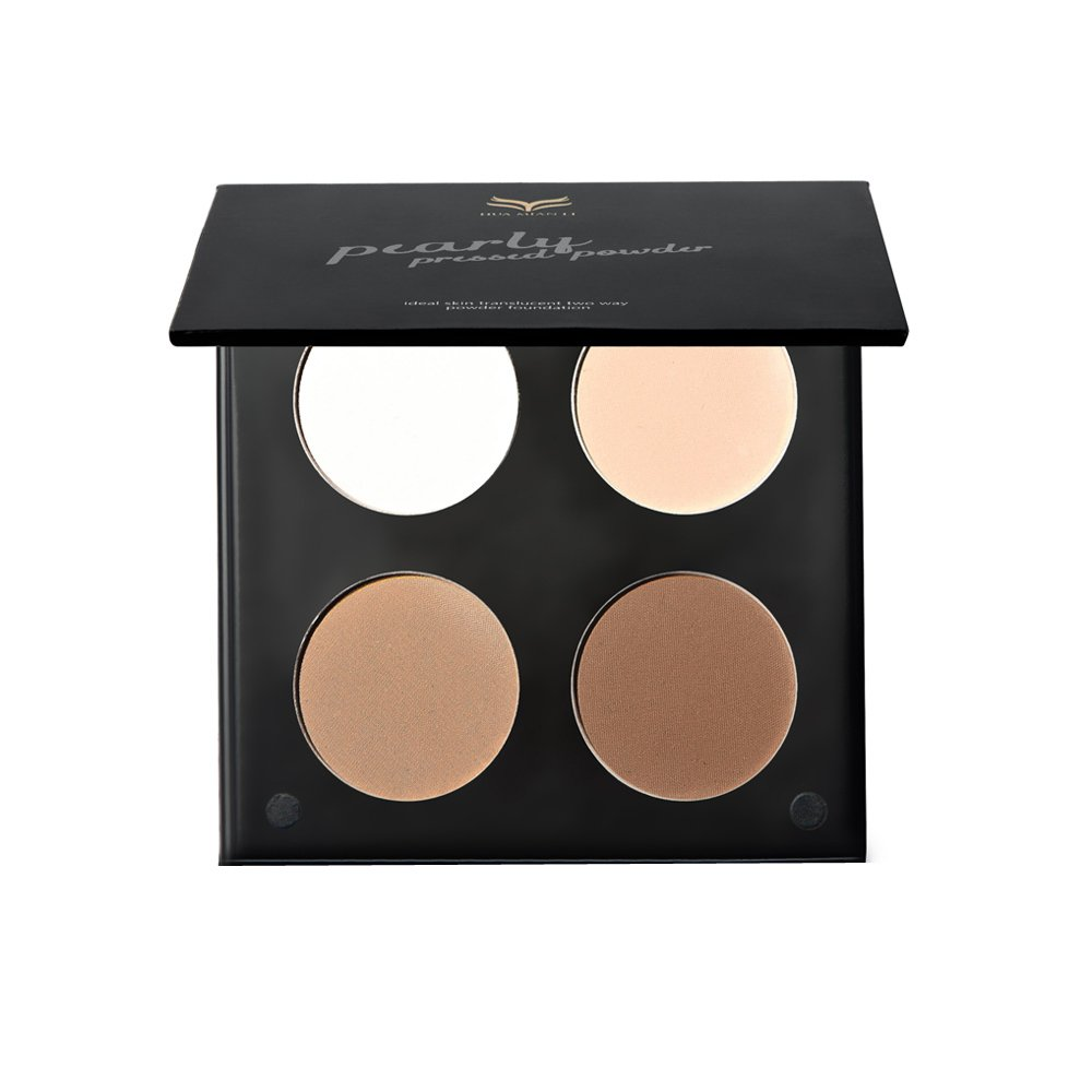 MagiDeal 4 Colors Makeup Face Powder Highlight Concealer Contouring Bronzer Foundation Cream Shade Kit - 2#