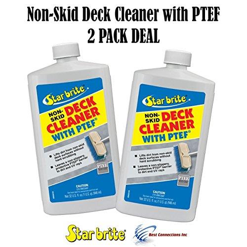 Deck Wax Skid Non (Starbrite 85932 Non-Skid Deck Cleaner W/ PTEF 32 oz (2 PACK DEAL))