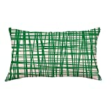 Home Decor Geometric Stripe Pattern Recycled Rectangle Cotton Pillow Shams (I)