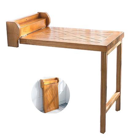 Mesa de pared de madera maciza Mesa plegable de hoja abatible ...