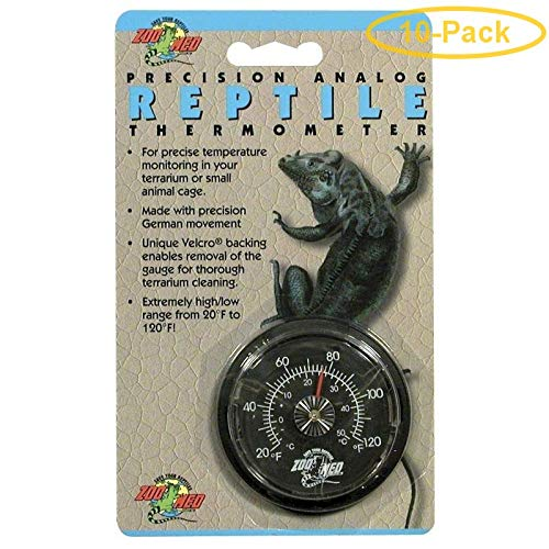Zoo Med Precision Analog Reptile Thermometer Analog Reptile Thermometer - Pack of 10 ()
