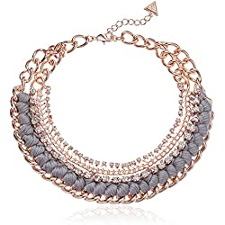 GUESS Love Struck Women's Necklace W Stones, Rose Gold, One Size