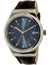 Swatch Men's Sistem51 Irony YIS404 Brown Leather Swiss Quartz Watch