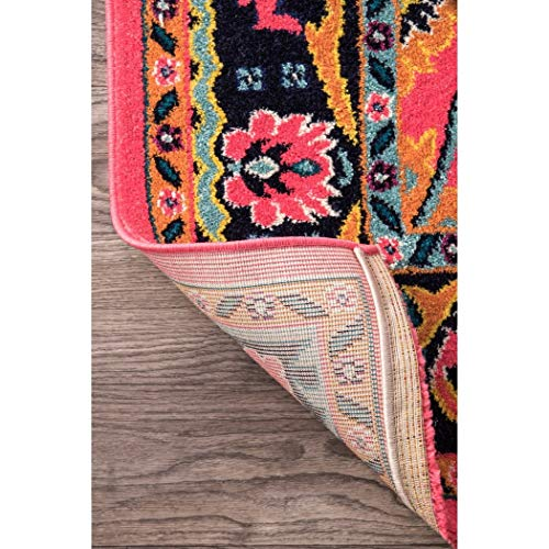 2 5 X 8 Vibrant Floral Persian Color Runner Rug Pink