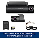 THINKWARE F800PRO Front & Rear Dash Cam Bundle Full HD 1080p Sony STARVIS, Hardwiring Cable, 64GB MicroSD Card Included, Built-in WiFi & GPS