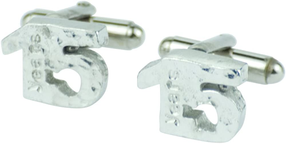Made In UK Hammered Rustic Effect Made for the Perfect 15th Anniversary Gift 15 Year Anniversary Cuff links