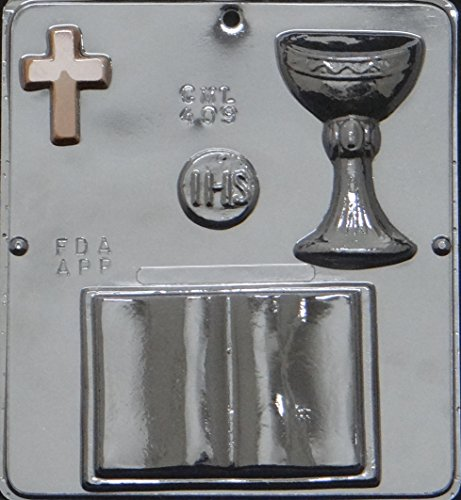 First Communion Bible Chocolate Candy Mold Religious 409 - Religious Molds Candy