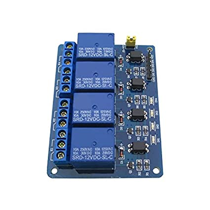 Amazon com: Tolako 4 Channel 12V Relay Module for Arduino Electronic
