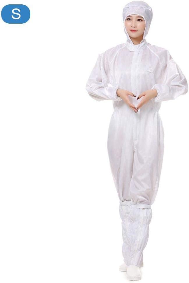 Abito di Protezione Antistatico per Uomo Donna Tuta Protettiva Antipolvere Lavabile con Cappuccio per Officina Interna da Esterno
