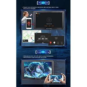 JOYING Car Radio 8 inch PX5 Octa-Core 2GB RAM 32GB ROM Single Din Universal Car head unit Android 6.0 MashMallow GPS Navigation Support 4K Video, DVR, Backup Camera and Steering Wheel Controller