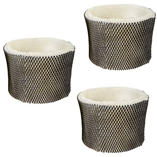 HQRP 3-Pack Wick Filter for Kenmore KM3855C, 04907 Humidifiers Coaster