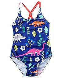 Baby Girls One Piece Swimsuit Dinosaur Pattern Summer Beachwear Sport Swimwear