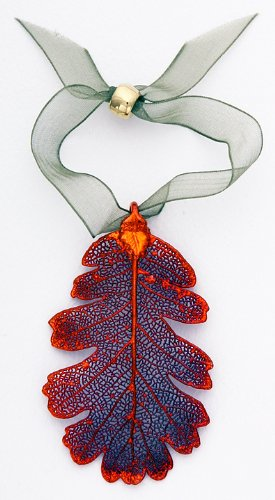 Oak Leaf Ornament, Iridescent - Made with Real Leaf!