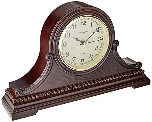 - Vmarketingsite Mantel Clocks Wood Mantel Clock with Westminster Chime. This Solid Wood Decorative Chiming Mantel Clock is Battery Operated. Quiet, Shelf Mantel Clock Westminster Chimes On The Hour.