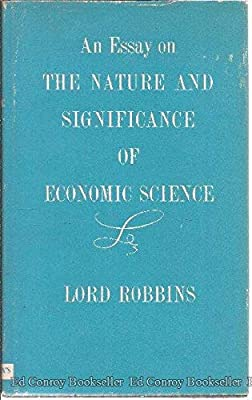 essay on the nature and significance of economic science and by robbins lionel pdf