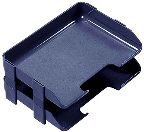 Rexel Agenda Classic Risers Self-locking for Letter Trays 53mm Charcoal Ref 25224 [Pack of 5]
