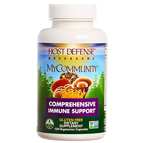 Host Defense – MyCommunity Multi Mushroom Capsules, Comprehensive Support for a Robust and Resilient Immune System with Lion s Mane, Turkey Tails, and Reishi, Non-GMO, Vegan, Organic, 120 Count
