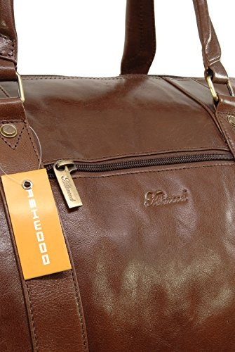 Reisetasche/Freizeittasche/Sporttaschevon Leder von Ashwood - Schwarz - GRÖßE: B: 53 H: 35 T: 28 cm Kastanien Braun